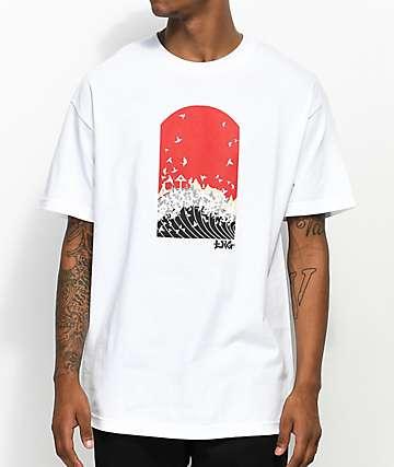 LRG Sunrise Crane White T-Shirt