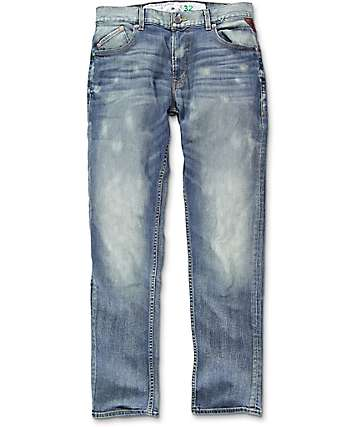 LRG True Taper Acid Bloch Blue Regular Fit Jeans