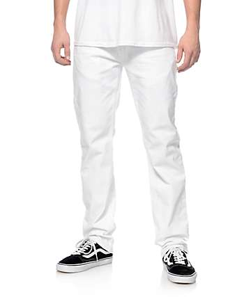 LRG True Taper Distressed White Regular Fit Jeans