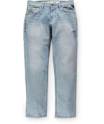 LRG True Taper Sun Bleached pantalones con ajuste regular