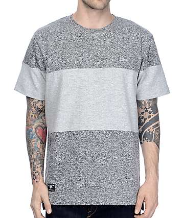 LRG Volver Knit Colorblock Grey T-Shirt