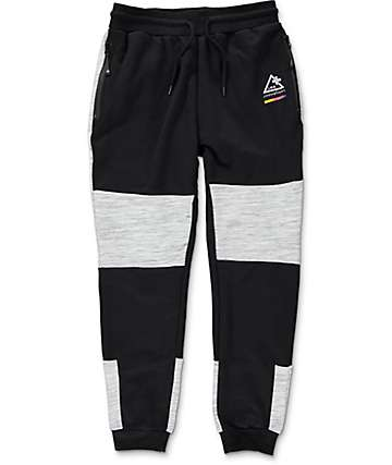 LRG Wavelength Black & Heather Grey Sweatpants