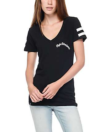 LRG You're Not Good Enough Black V-Neck T-Shirt
