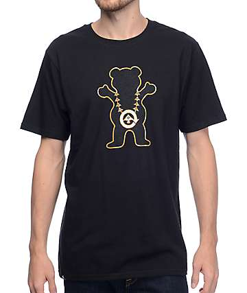 LRG x Grizzly Boss Bear Black T-Shirt