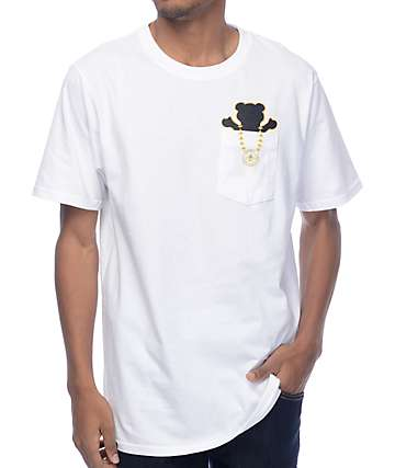 LRG x Grizzly Boss Bear White Pocket T-Shirt