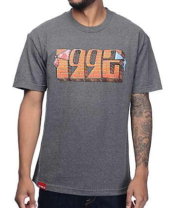 La Familia 1992 Tour camiseta en negro jaspeado