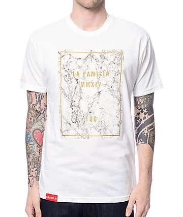 La Familia Marble 100 White T-Shirt
