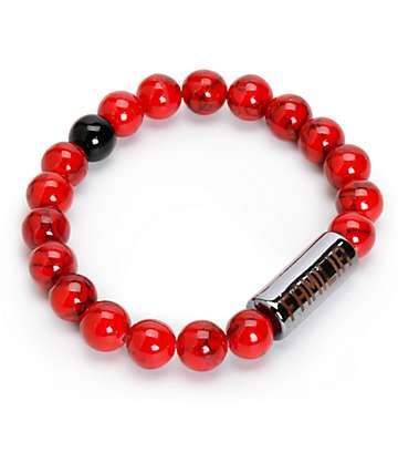 La Familia Stoned Red Beaded Bracelet