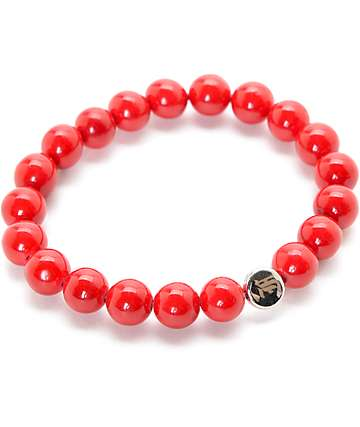 La Familia Trap Red Beaded Bracelet