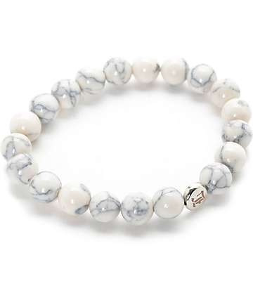 La Familia Trap White Beaded Bracelet