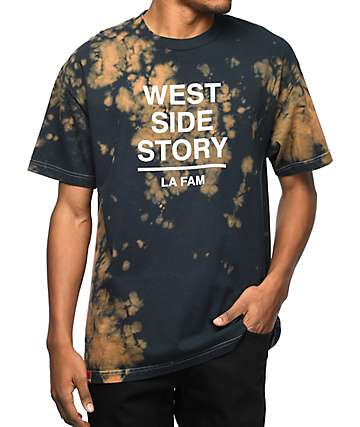 La Familia West Side Story Money Cloud Black Bleach Tie Dye T-Shirt