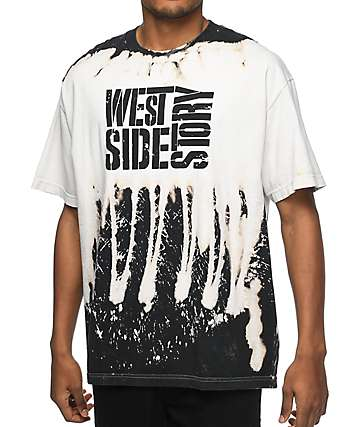 La Familia West Side Story Stencil Dripped Bleach Black T-Shirt