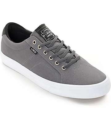 Lakai Flaco zapatos de skate de lona en gris y blanco