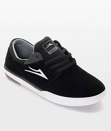 Lakai Fremont Black & White Skate Shoe