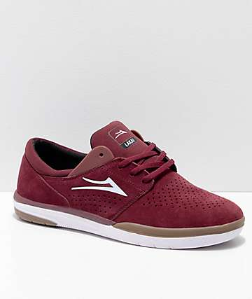 Lakai Fremont Burgundy Suede Skate Shoes