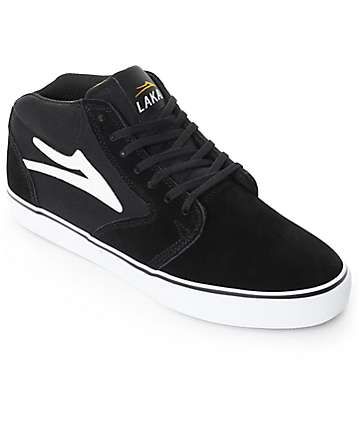 Lakai Fura High Black & White Skate Shoes