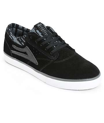 Lakai Griffin Black Printed Skate Shoes