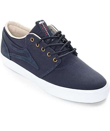 Lakai Griffin Midnight & White Canvas Skate Shoes