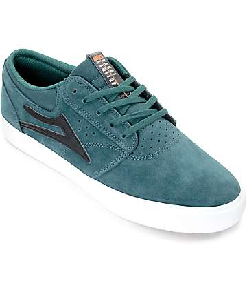 Lakai Griffin Pine & White Suede Skate Shoes