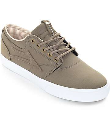 Lakai Griffin Walnut Canvas Skate Shoes