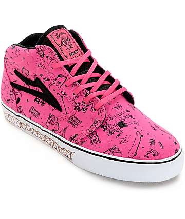 Lakai Lena Dunham Fura Bubble Gum High Top Shoes
