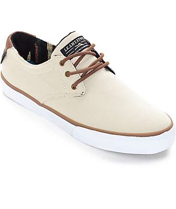 Lakai MJ Cream Canvas Skate Shoes