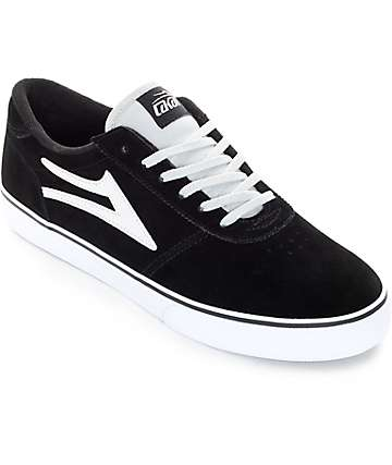 Lakai Manchester Black & Grey Suede Skate Shoes