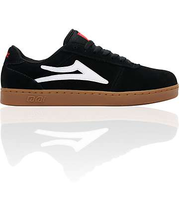 Lakai x Chocolate Manchester XLK Black & Gum Suede Skate Shoes