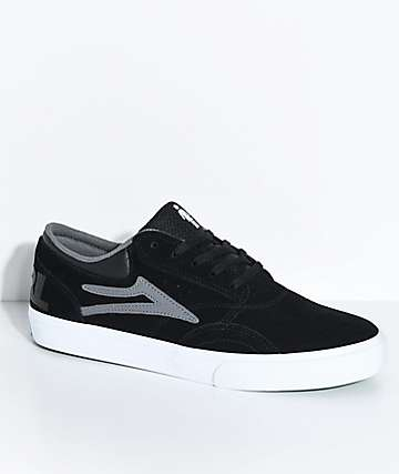 Lakai x Girl Griffin Black & White Skate Shoes