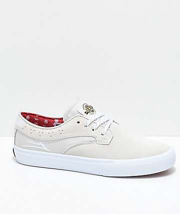 Lakai x Independent Riley Hawk White Skate Shoes