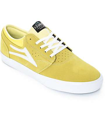 Lakai x Krooked Griffin zapatos de skate en color amarillo