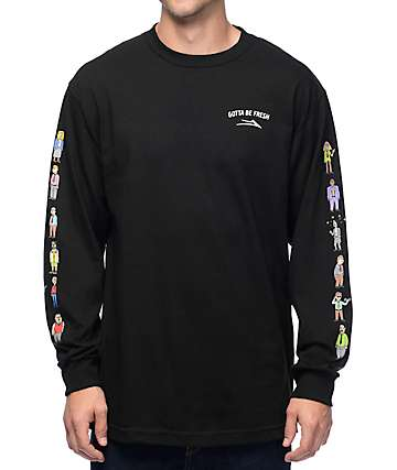 Lakai x Workaholics Army Black Long Sleeve T-Shirt