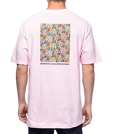 Lakai x Workaholics Get Weird Pink T-Shirt