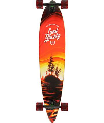 "Landyachtz Bamboo Pinner 44"" Pintail Longboard Complete"