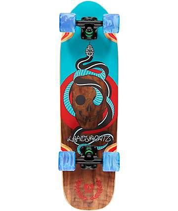 """Landyachtz Dinghy Skull 28.5"""" Cruiser Complete Skateboard"""