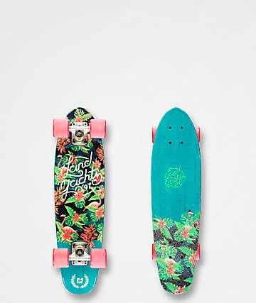 "Landyachtz Mini Dinghy Floral 26"" cruiser skateboard completo"