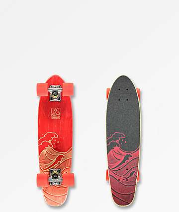 "Landyachtz Mini Dinghy Waves 26""  Cruiser Complete Skateboard"