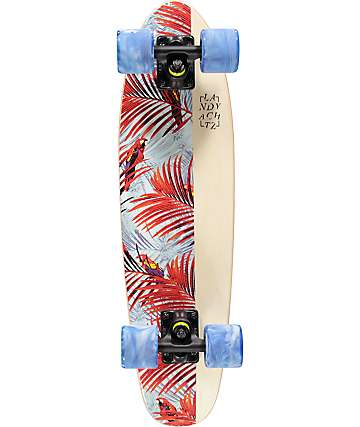 "Landyachtz Mini Dinghy White Floral 26"" Cruiser Complete Skateboard"