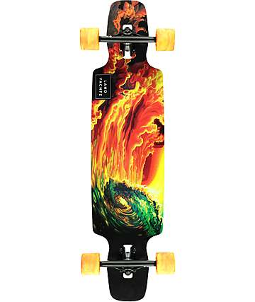 "Landyachtz Ocean Spray Drop Carve 37"" Drop Through Longboard Complete"