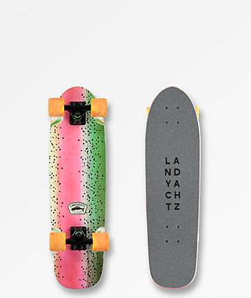 "Lanyachtz Dinghy Embossed Trout 28.5"" Cruiser Complete Skateboard"