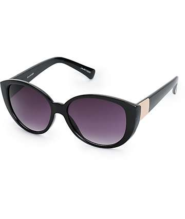 Lauren Gold Temple Round Sunglasses