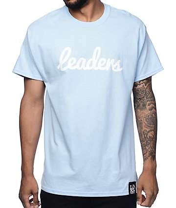 Leaders Cursive Pastel Blue T-Shirt