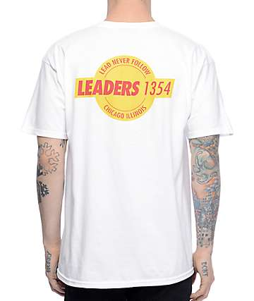 Leaders L Wing Seal White T-Shirt