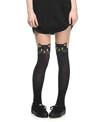 Leg Avenue medias con gato negro