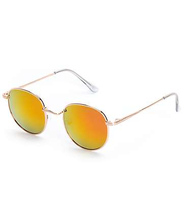 Lennon Round Rose Sunglasses