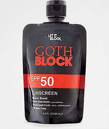 Let It Block Goth Block SPF 50 Sunscreen