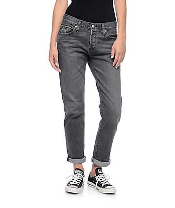 Levi's 501CT Washed Black Coast Mid Jeans