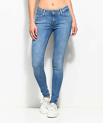Levi's 535 Medium Wash Super Skinny Jeans