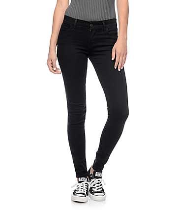 Levi's 710 Black Echo Mid Super Skinny Jeans