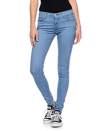 Levi's 710 Medium Blue Mid Super Skinny Jeans